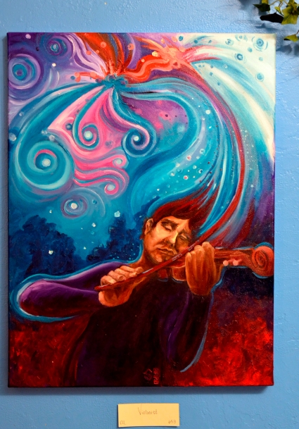 """Violinist"" $300 Oil on Canvas"